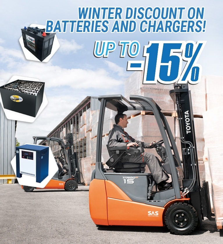 Discount on batteries and chargers